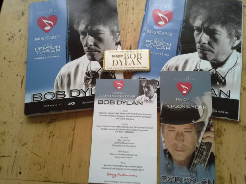BOB DYLAN MUSICARES PERSON OF THE YEAR 2015 JOURNAL CATALOGUE CHOCOLATE MENU