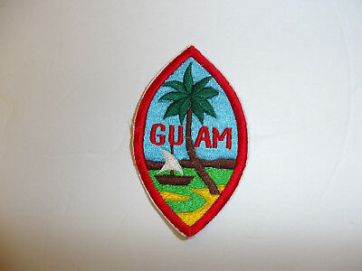 b5376 Post WW2 US Army National Guard ARNG Guam patch drk blue R9A