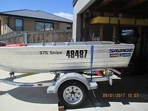 Savage 375 Snipe Aluminium Dinghy with Suzuki 15hp Outboard Motor Midway Point Sorell Area Preview