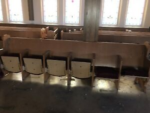 Used theatre style Church Pews Benches