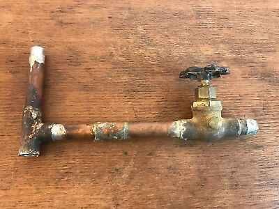 Steampunk Faucet and Copper Pipe Fixture Art Up cycle Parts HD12
