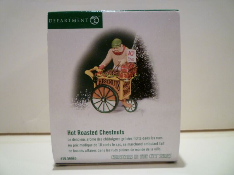 """Department 56 """"Hot Roasted Chestnuts"""" Christmas In The City NIB"""