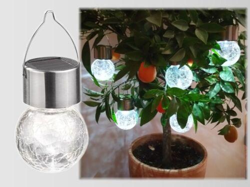 Led sfera solare lampada luce sferica pendente da giardino