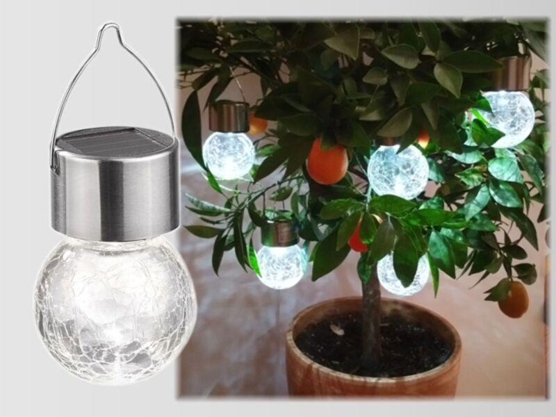 Lampade A Sospensione Allaperto : Xled sfera solare lampada luce sferica pendente da giardino di