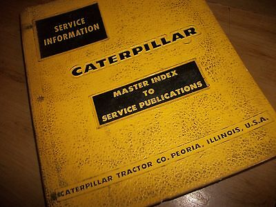 CATERPILLAR  MASTER INDEX  TO SERVICE PUBLICATIONs  USED (Master-index)
