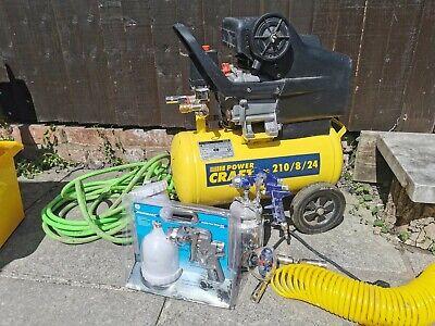 24L Air Compressor with Hoses, Spray guns & attachments