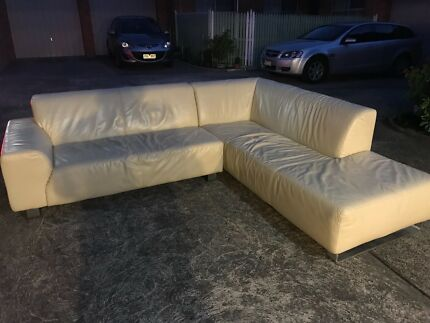 Very good condition L-Shape leather couch for sale