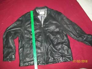 """BLACK LEATHER """"REILLY-OLMES"""" JACKET"""