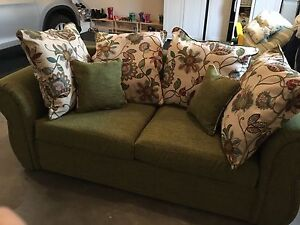 REDUCED! Must sell, beautiful large couch with accent pillows!