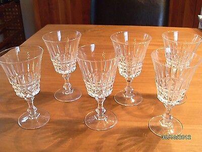 6 Weingläser Kristallglas Bleiglas cristal d'arques ()
