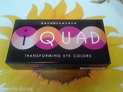 Bare Minerals I Quad Transforming Eye Colors  4  Beautiful Eyeshadows   Brush