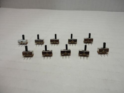 10 Pack Lot On Off Mini Slide Toggle Switch SS12D00 SS12D03G5 3 Pins 5mm Handle