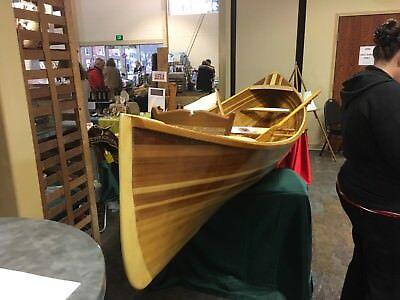 Adirondack Guideboat, 16' - cedar wood strip rowboat rowing guide boat canoe
