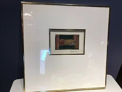 """Original Mixed Media Collage by MERRI PATTINIAN Signed & Framed with Label 18.5"""""""