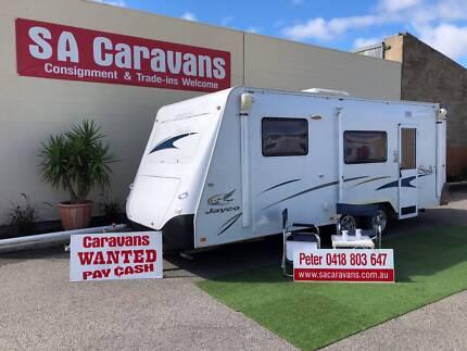 Jayco Sterling 20' Bunk Van Caravan with Annex Walls