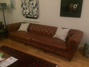 4 seater leather chesterfield sofa Paddington Brisbane North West Preview
