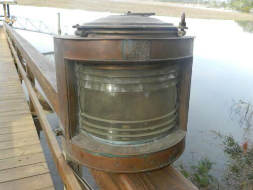 Vintage Marine Light Brass 15 X 15 X 15 Inch Handle 17 1/2 Pounds