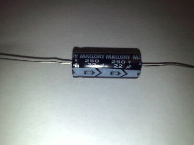 20 Uf Substitute Mallory 22 Uf 250 Volt Axial Leads Electrolytic Capacitor