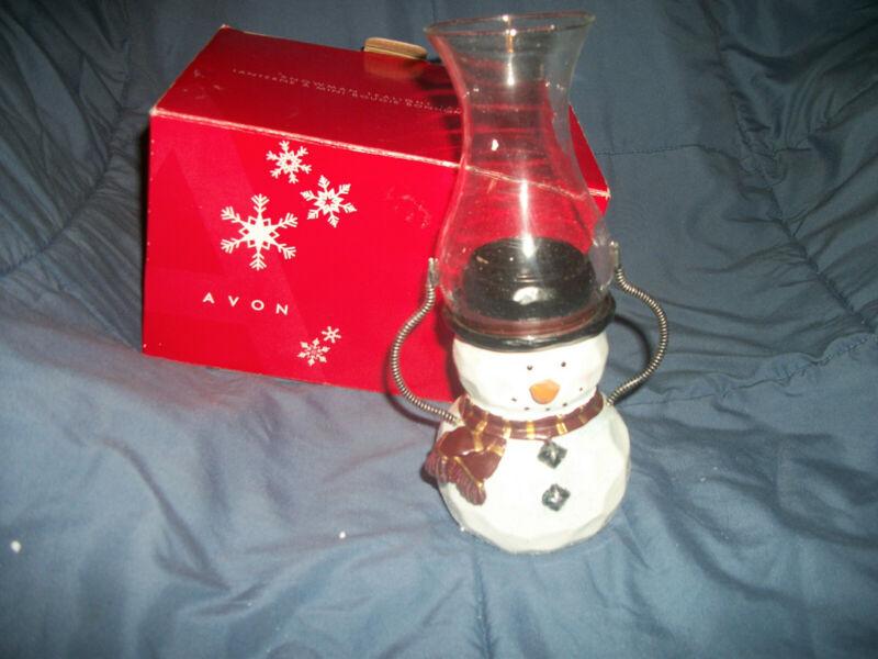 Avon Snowman Tealight Lantern Excellent Condition
