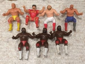 LJN WWE WWF THUMB WRESTLERS & BENDIES