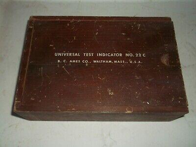 Vintage B.c. Ames Co Universal Test Indicator Set 22c Complete Set