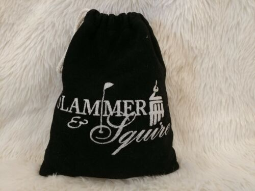 SLAMMER & SQUIRE GOLF BALL BAG Filled with New Wooden Tees and Some Ball Markers