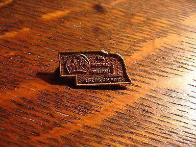 National Investors Life Insurance Company Pin   Vintage Nebraska Ne State Usa
