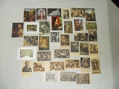 Vintage : important lot de cpa thèmes tableaux état voir photos