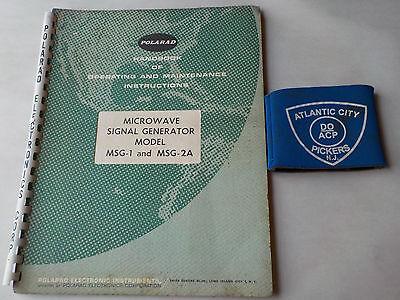 Polarad Model Msg-1msg-2a Microwave Signal Generator Instruction Manual