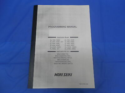 Mori Seiki Machine Tool Company Cnc Programming Manual Pm-f16tmc-a2e Sl Dl Tl Zl