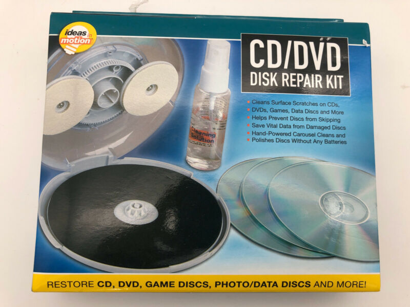 CD DVD Disc Repair Kit Restore Clean by Ideas In Motion NEW [312]
