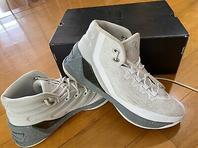 Men's Under Armour Curry 3 White Grey Basketball Shoes Size 8.5 in Original Box