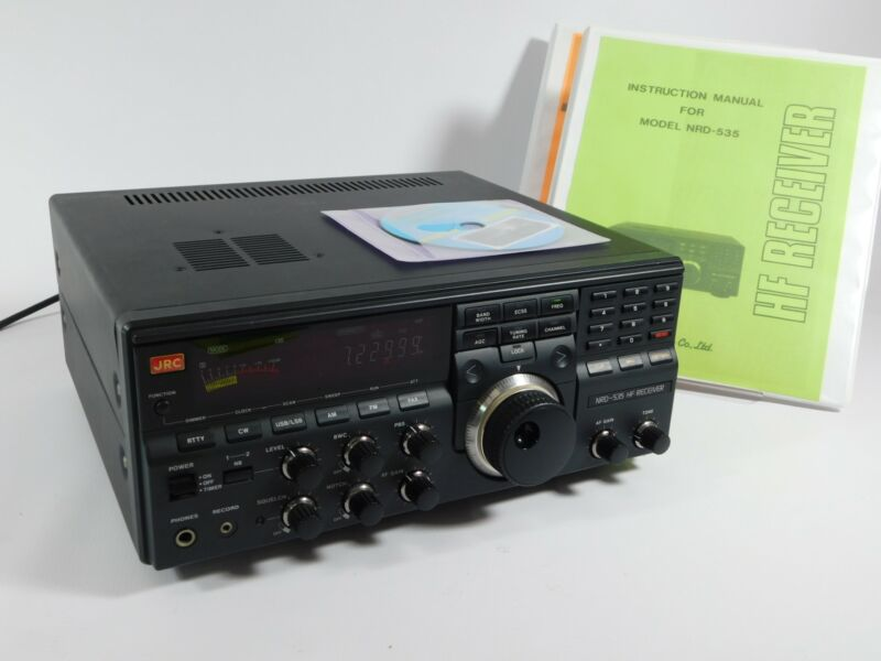 JRC NRD-535 Ham Radio HF Receiver w/ CFL-243W Board + Manuals (works great)
