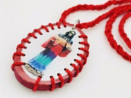 Religious/Necklace Collar/Escapulario De La Santa Muerte 7 Potencias Oval