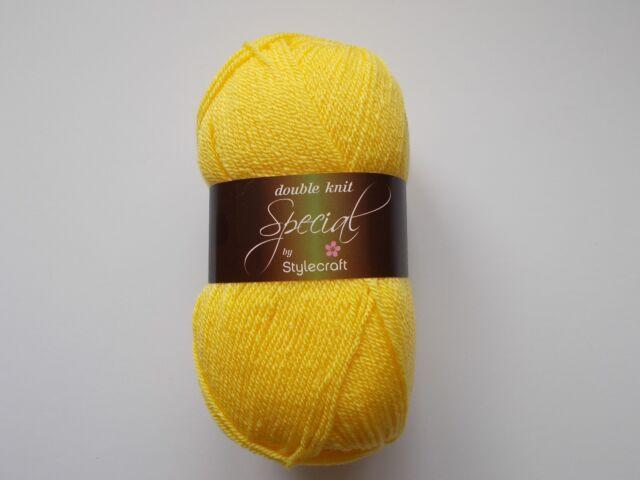 Stylecraft Special DK yarn, 100g, Acrylic, CITRON, Yellow
