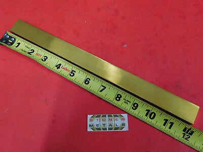 38 X 1 C360 Brass Flat Bar 12 Long Solid Mill Stock H02 .375x 1.00x 12