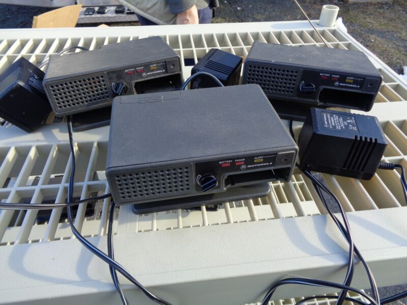 Lot of 3 Motorola NRN4985B Minitor II VHF UHF Pager