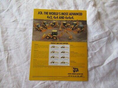 Jcb 215 Tractor Backhoe Loader Brochure