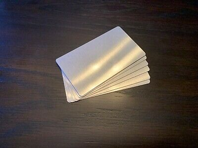Clear Aluminum Dye Sublimation Business Card Blanks 2 X 3-12