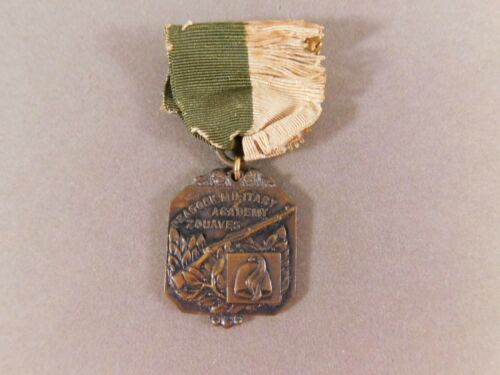 Peacock Military Academy Zouaves Ribbon Medal 1940 R. Cutting