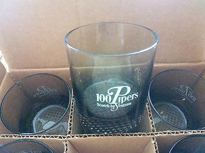 Set OF 6 100 PIipers Scotch Rocks Glasses -- NIB!!