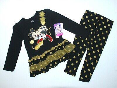 Langarmshirt Legging DISNEY USA 98/104 Minnie Maus Mädchen USA 4 t schwarz