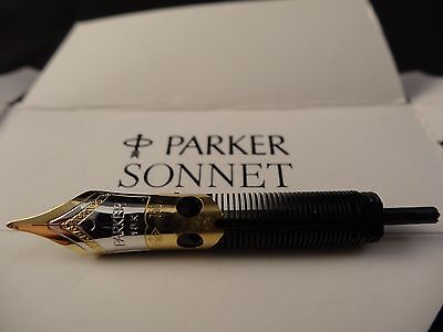 NEW OLD STOCK PARKER SONNET FINE 18k GOLD TWO TONE REPLACEMENT FOUNTAIN PEN NIB