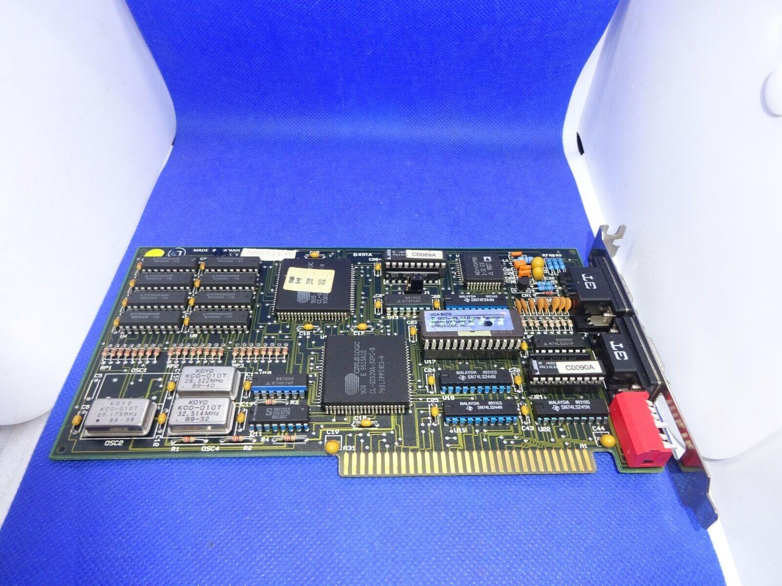 CIRRUS LOGIC  CL-GD520A-32PC-B RETRO GRAFIKKARTE ISA  #GK1390