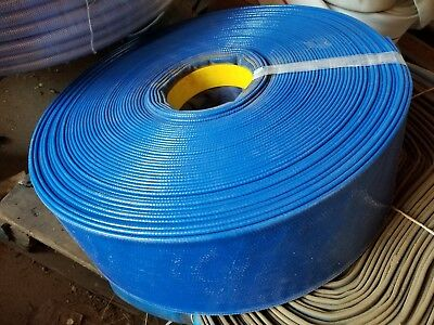 Blue Pvc Lay Flat Discharge Hose 4 Id X 75