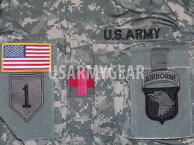 Made In Usa Army Military Acu Digital Combat Uniform Shir...