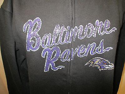 Baltimore Ravens Women 3XL Zip Up Big and Tall Jacket NFL A14 ()