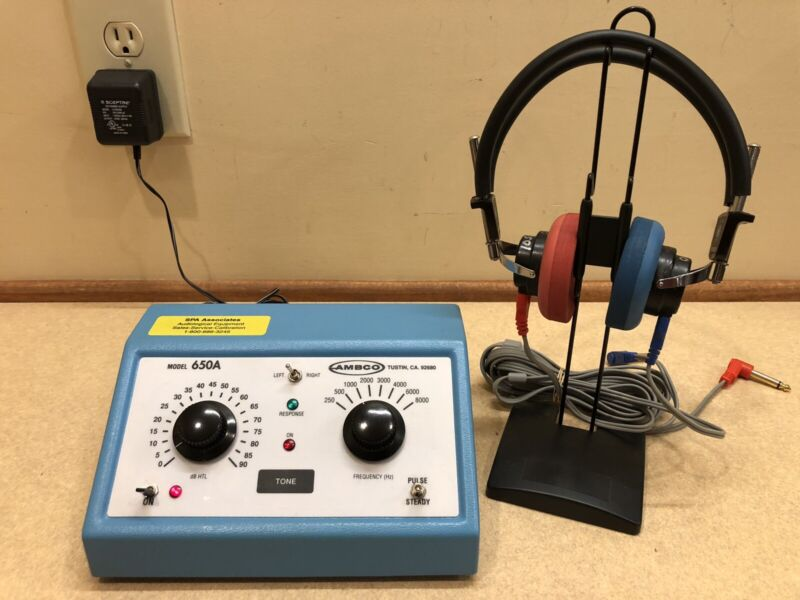 Ambco 650A, Portable Audiometer w/ NEW Calibration Certificate