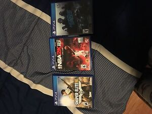 PS4 Games (Need For Speed,NBA,Sniper Elite 3)