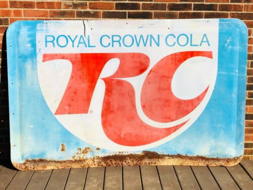 "Vintage Metal Large RC Cola Soda Advertising Sign Royal Crown Cola 76""x48"""